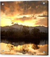 Boulder County Sunset Reflection Acrylic Print