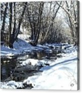 Boulder Creek After A Snowstorm Acrylic Print