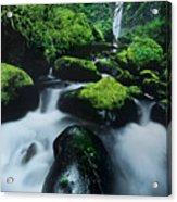 Boulder Elowah Falls Columbia River Gorge Nsa Oregon Acrylic Print