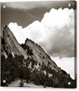 Large Cloud Over Flatirons Acrylic Print