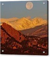 Boulder Moonrise Acrylic Print