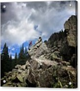 Bouldering On The Flint Creek Trail - Weminuche Wilderness Acrylic Print