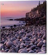 Boulders At Dawn - Vertical Acrylic Print
