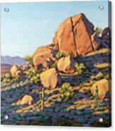 Boulders By Pinnacle Peak Mountain Acrylic Print