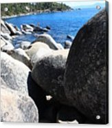 Boulders On Lake Tahoe Acrylic Print