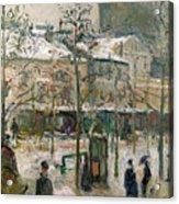 Boulevard De Rocheouart In Snow Acrylic Print