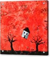 Bouncing House Fiery Sky Acrylic Print