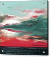 Bound Of Glory - Panoramic Sunset  Acrylic Print