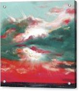 Bound Of Glory 2 - Square Sunset Painting Acrylic Print