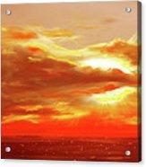 Bound Of Glory - Red Panoramic Sunset  Acrylic Print