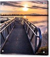 Bountiful Lake Pier Acrylic Print