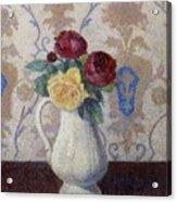 Bouquet De Roses Dans Un Vase 1885 Acrylic Print