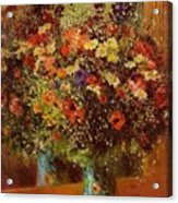 Bouquet In Front Of A Mirror 1877 Acrylic Print