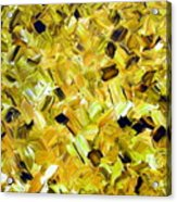 Bouquet In Gold Acrylic Print