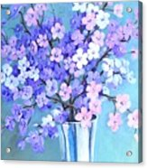 Bouquet In Silver Vase Acrylic Print