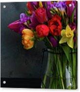 Spring Flowers In Vase Acrylic Print