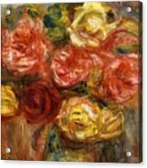 Bouquet Of Roses In A Vase 1900 Acrylic Print