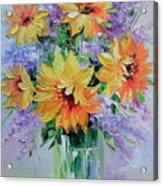 Bouquet Of Sunflowers Acrylic Print
