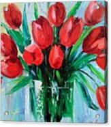 Bouquet Of Tulips Acrylic Print
