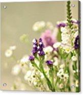 Bouquet Of Wildflowers Acrylic Print