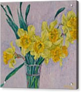 Bouquet Of Yellow Daffodils Acrylic Print