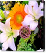 Bouquet Softly There Acrylic Print