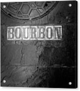 Bourbon In Black And White Acrylic Print