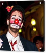 Bourbon Street Clown Mime Acrylic Print