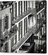 Bourbon Street Morning-bw-nola Acrylic Print