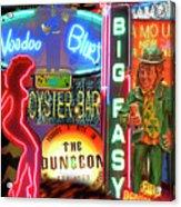 Bourbon Street Neon Acrylic Print