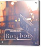 Bourbon Street New Orleans La Acrylic Print