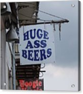 Bourbon Street Signs Acrylic Print