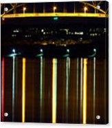 Bourne Bridge At Night Cape Cod Acrylic Print by Matt Suess