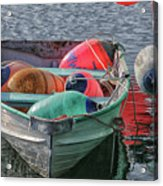 Bouys In A Boat Acrylic Print