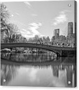 bow bridge central park N Y C Acrylic Print