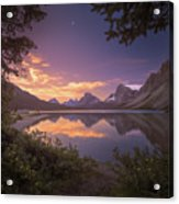 Bow Lake At Dawn Acrylic Print