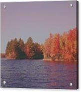 Bow Lake New Hampshire Autumn Colors Acrylic Print