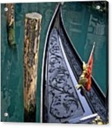 Bow Of Gondola In Venice Acrylic Print