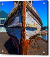 Bow Of Old Worn Boat Acrylic Print
