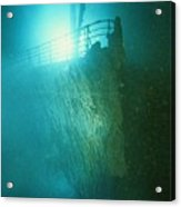 Bow Railing Of R.m.s. Titanic Acrylic Print by Emory Kristof