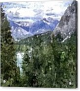 Bow River Valley In The Canadian Rockies Acrylic Print