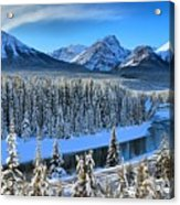 Bow River Valley View Acrylic Print
