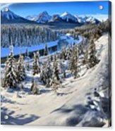 Bow Valley Mountains Acrylic Print