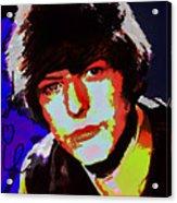Bowie 60s Fringe  Acrylic Print