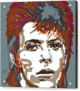 Bowie As Ziggy Acrylic Print by Suzanne Gee