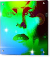 Bowie In Blue Acrylic Print
