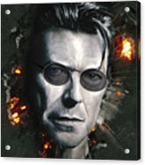 Bowie With Glasses Acrylic Print