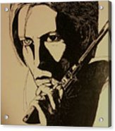 Bowie's Got A Gun Acrylic Print