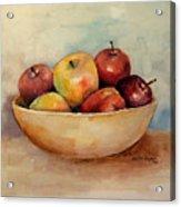 Bowl Of Apples Acrylic Print