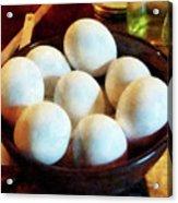 Bowl Of Eggs Acrylic Print